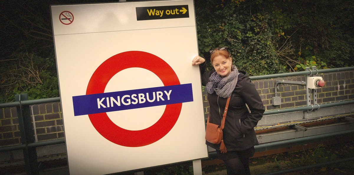 Marina Reznor at Kingsbury Underground station